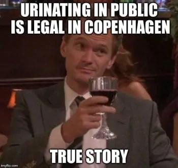 copenhagen travel meme