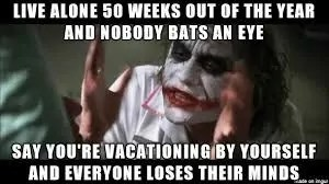 Solo Travel Meme