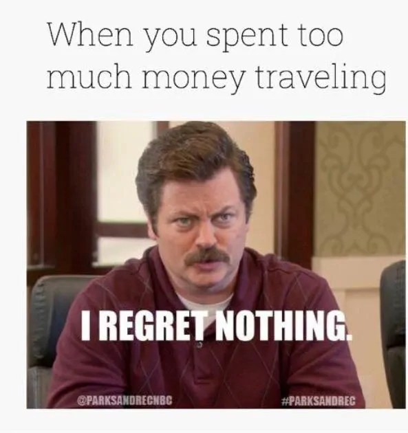 Travel Budget Meme