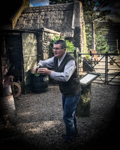 Stephen giving a lively moonshine demonstration