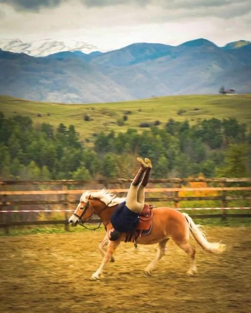 Miron Bococi on horseback