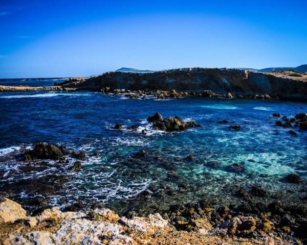 The rocky shores of Cape Angela