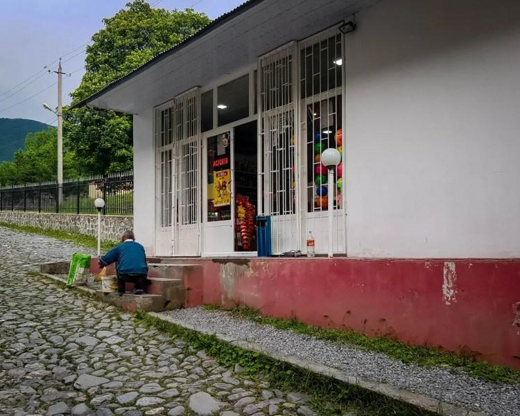 Azerbaijan - Sheki - Corner Store