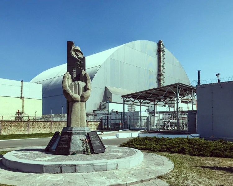 Ukraine - Chernobyl - Reactor 4 and Memorial