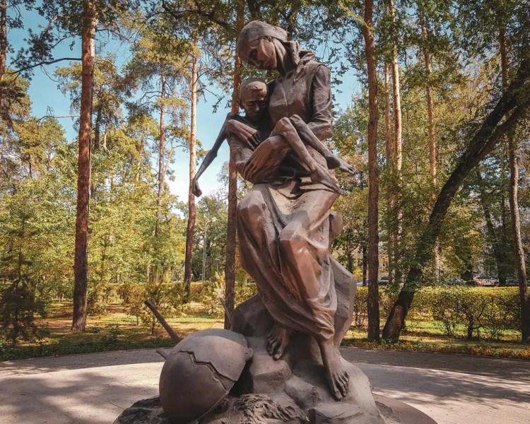 The memorial to the Kazakhstan Famine in Almaty