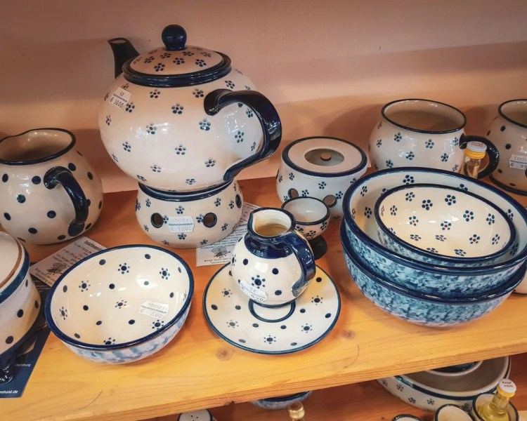 Germany - Dresden Neustadt - Markthalle Markethall Souvenirs Porcelain