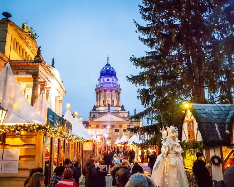 Germany - Berlin - Christmas Market at Gendarmenmarkt
