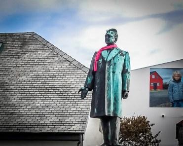 Iceland- Reykjavik - Statue with Scarf