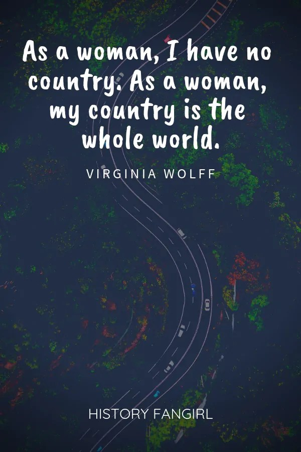 Virginia Wolff Female Travel Quote