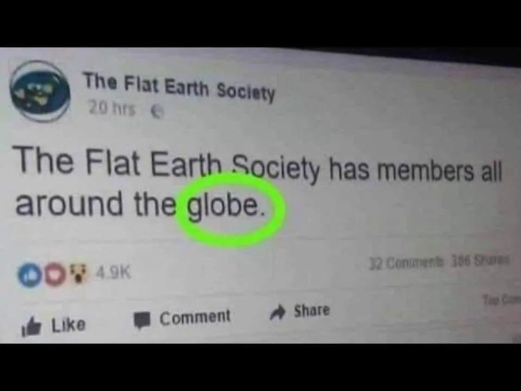 flat earth meme