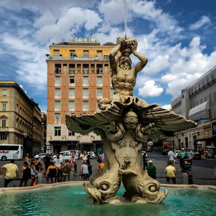 Italy - Rome - Piazza Barberini - Triton Fountain
