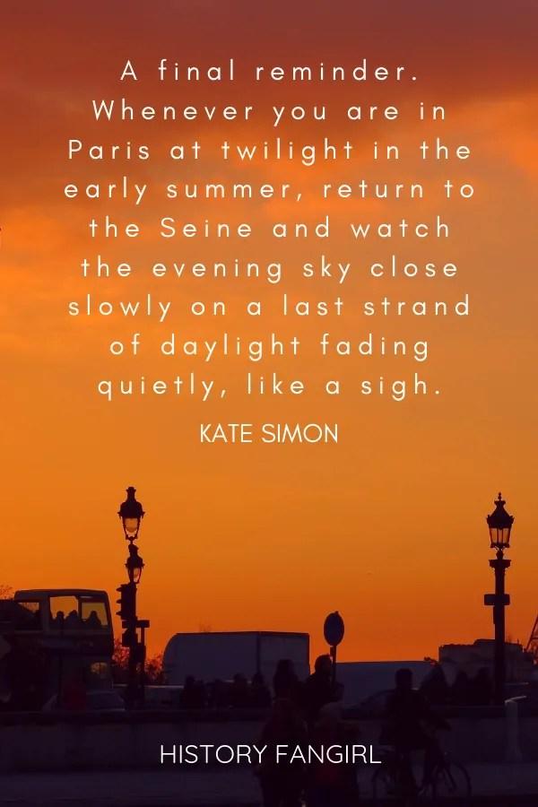 Kate Simon Paris Quote
