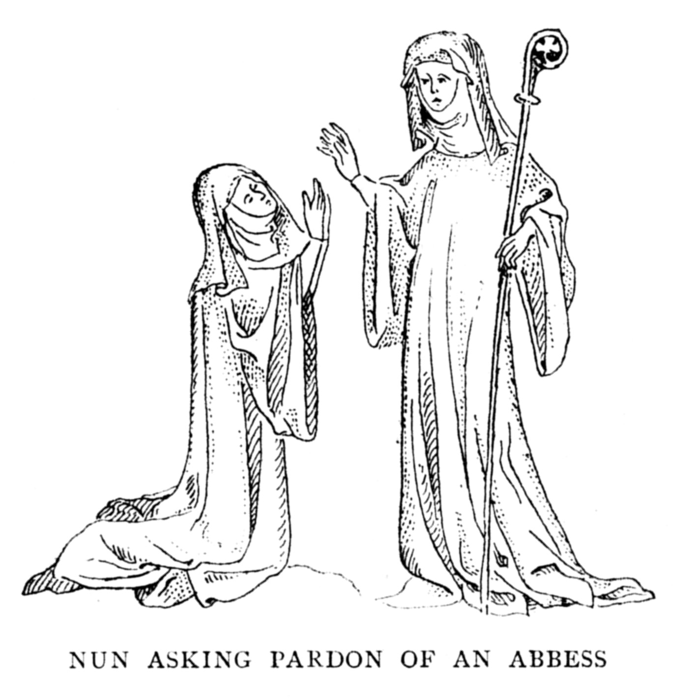 What did nuns wear in the middle ages