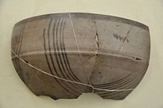 In india, Iron Age begins with iron-painted gray ware.