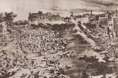 The Jallianwala Bagh massacre happened in Jallianwala Bagh. The were thousands of people including women and children who were protesting against British Government.
