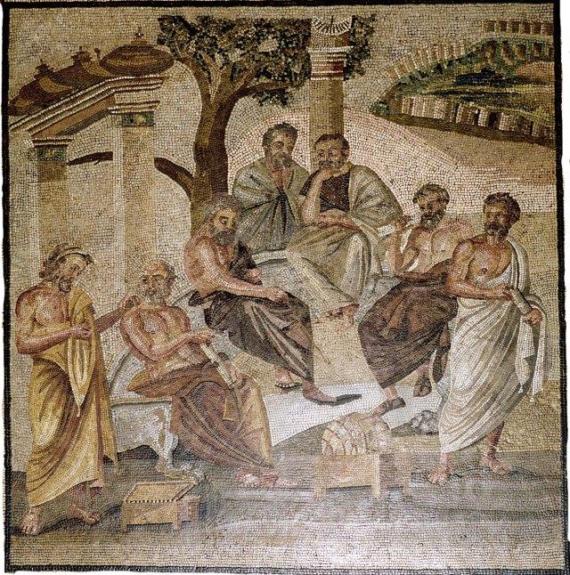 Plato teaching.