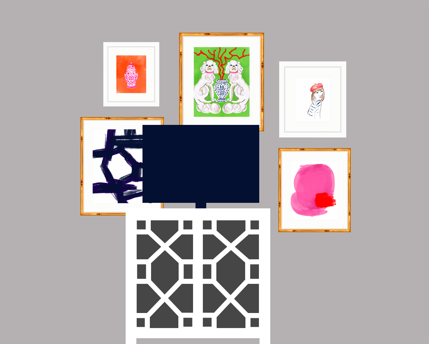How to arrange a gallery wall