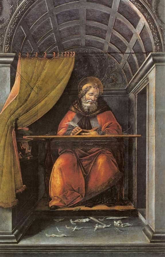 """St. Augustine Writing in His Cell"""