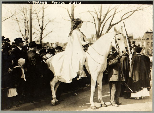 Stunning Image of Inez Milholland Boissevain and National American Woman Suffrage Association on 3/3/1913