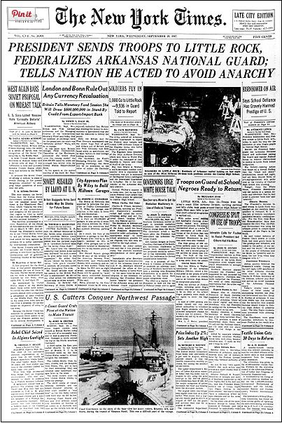 What Did  Front and The New York Times Look Like  62 Ago