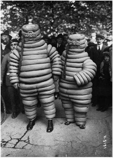 Fascinating Historical Picture of Michelin Man in 1894