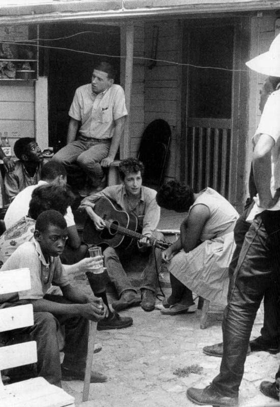 Stunning Image of Bob Dylan and SNCC Office in 1963
