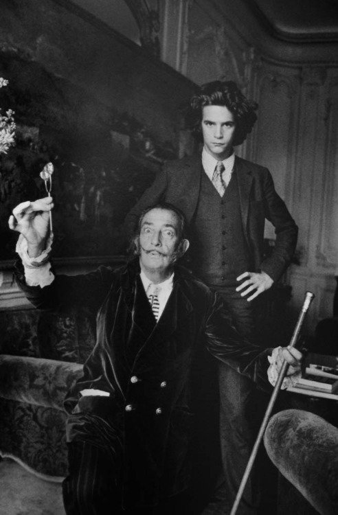 Amazing Historical Photo of Salvador Dali with Yves Saint Laurent in 1971