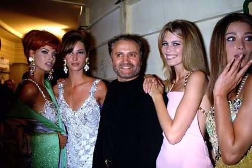 Amazing Historical Photo of Versace in 1991