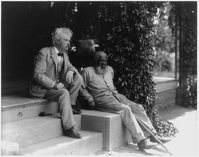 Amazing Historical Photo of Mark Twain with John Lewis in 1903