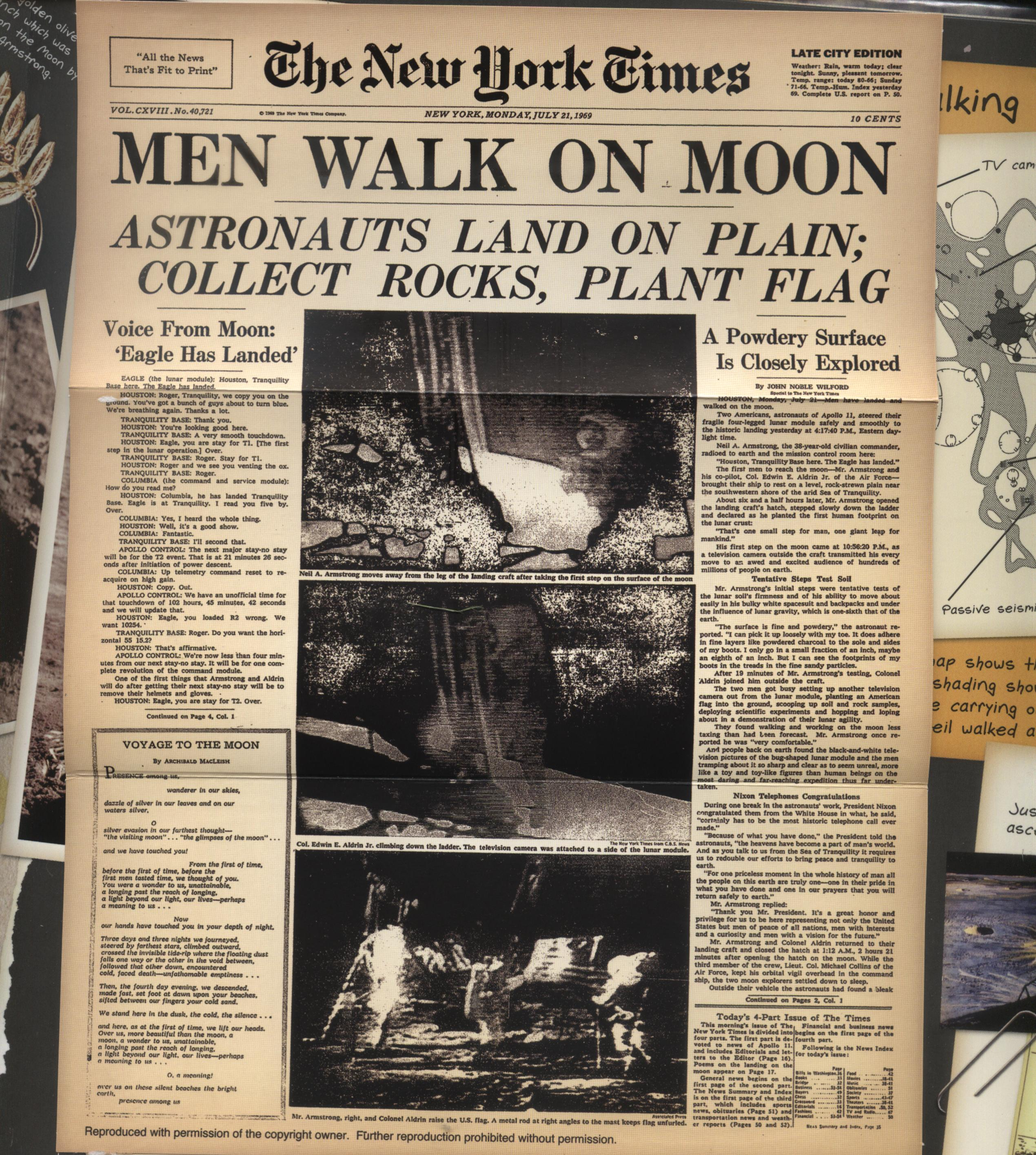 Different Times Moon Landing Pictures