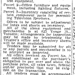 United Television Bankruptcy liquidation of assets. Source: Globe and Mail, August 24, 1954.