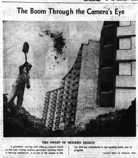 Gonna dig me a hole... Source: Ottawa Journal, September 12, 1964