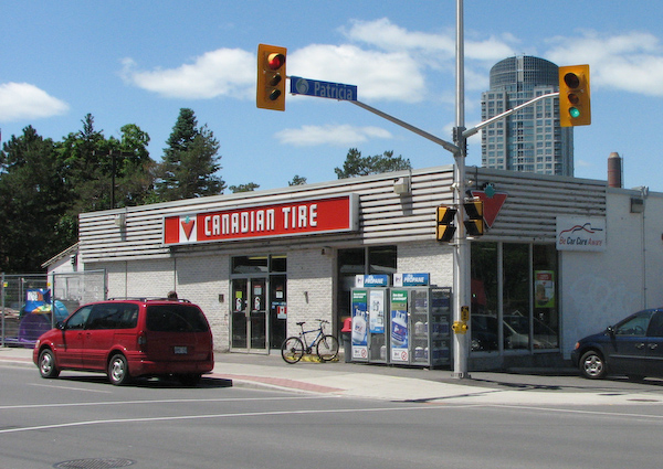 The only image of the former Westboro Canadian Tire that I was able to locate. Though it had been actually open for a part of 1953, its official grand opening was May 1, 1954.