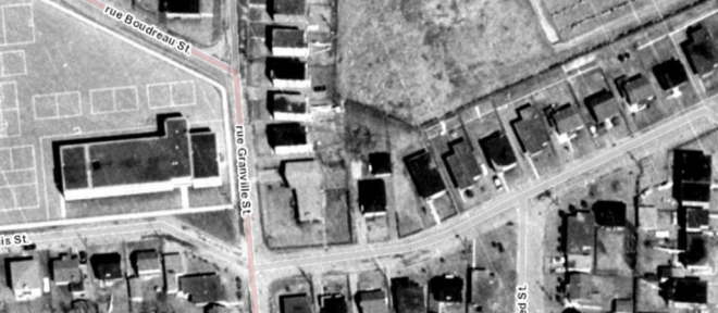 I may as well have been walking through this aerial. At least it felt that way. Source: geoOttawa (1965 Aerials)