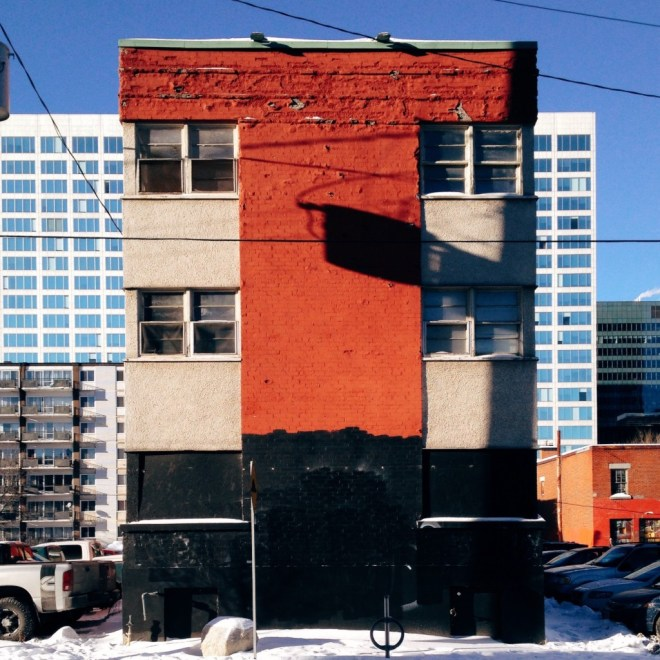 The Gilbert Apartments still stand, but not for long. Image: January 2015.