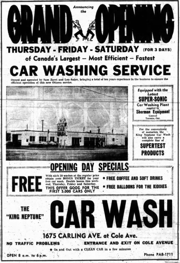 As the west end began to fill in, so too did the services. Source: Ottawa Journal, November 5, 1959, Page 15.