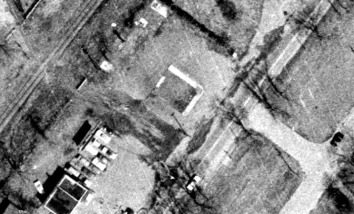 Aerial image of the site, 1965. Source: geoOttawa.
