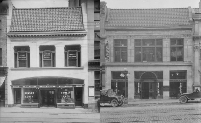 When Ottawans spoke of Bowles, these were the locations that they tended to. Sparks (left) and Rideau (right). Sources: LAC Topley Series E, Accession 1936-270, Item E-138477 (left), LAC Topley Series C, Accession 1936-270, Item 149347 (right).