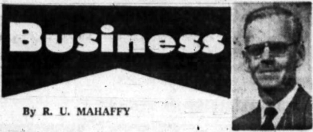 Have a business question? R.U. Muhaffy is on the case! Source: Ottawa Journal, June 10, 1961, Page 39.