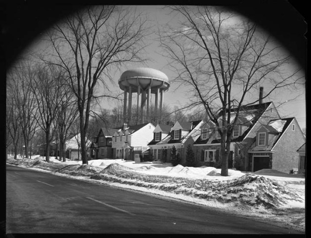 From the other side, on Island Park. Image: Archives of Ottawa, Item 031662, March 17, 1955.