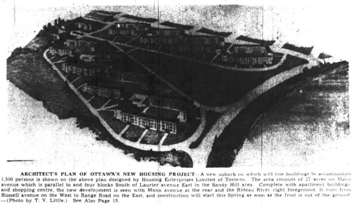 Illustration run in the Ottawa Journal. Source: Ottawa Journal, January 9, 1947, p. 1.