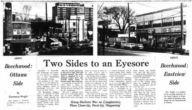 Beechwood was in flux during those days. Source: Ottawa Journal, April 29, 1967, p. 43.