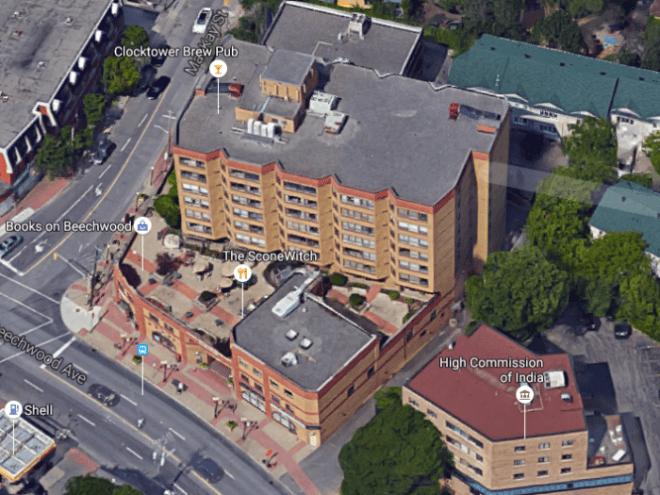 New Edinburgh Square, bird's eye, 2015. Image: Google Maps.
