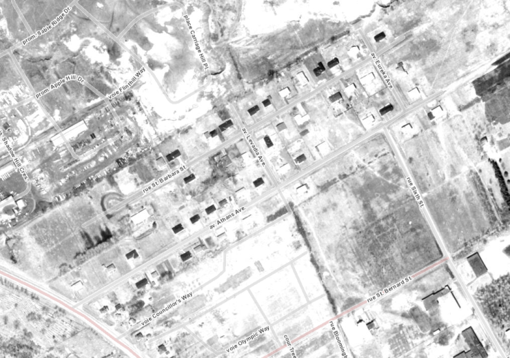 The subdivision in 1965. Image: geoOttawa.