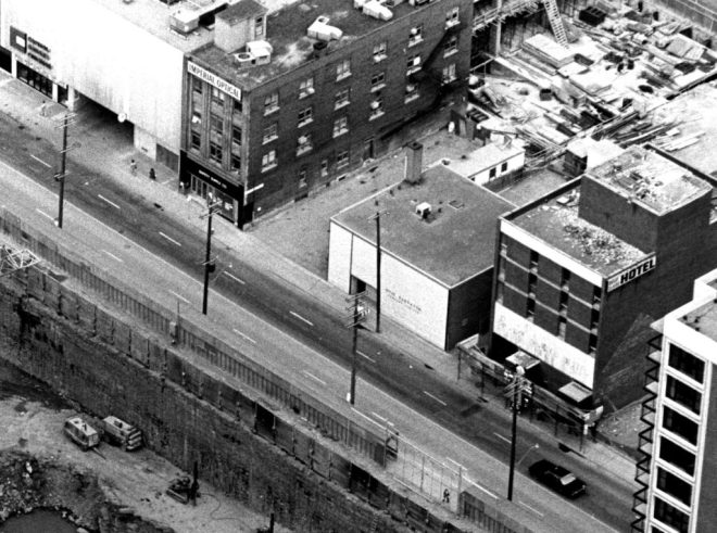 The Otis Elevator building in its final days. Image: URBSite.