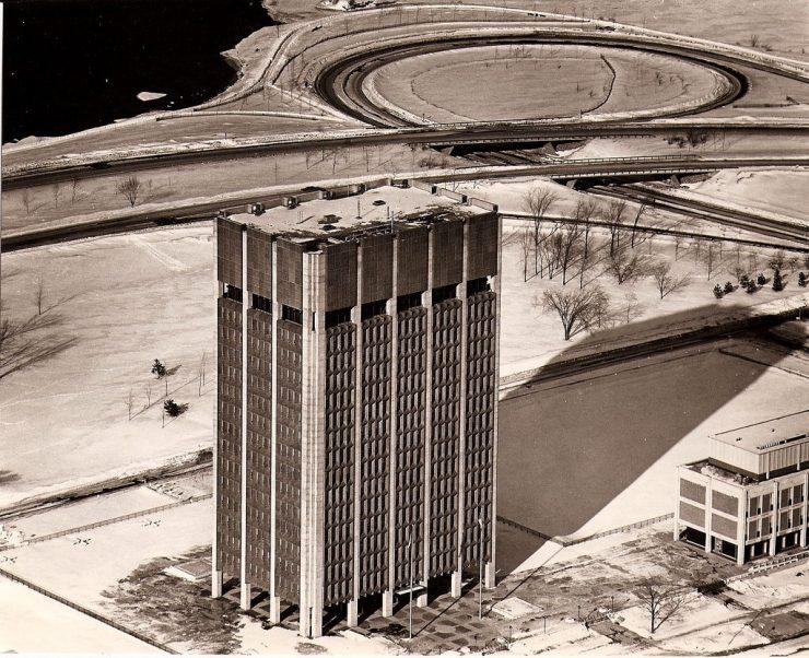 Bird's eye of Judy's Tower. Image: Hank LeClair, n.d.