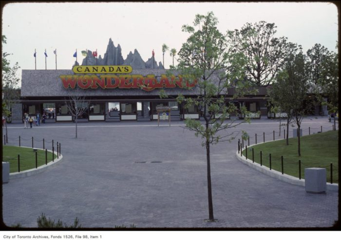 Thanks to the recent success of Canada's Wonderland, Canadian Association of Motion Picture Producers executive Sam Jeffcott saw merit in the theme park element to Athans' proposal, but was baffled by the movie studio. Image: City of Toronto Archives, Harvey Naylor Fonds (1526), Canada's Wonderland (File 98), Item 1, June 8, 1981.