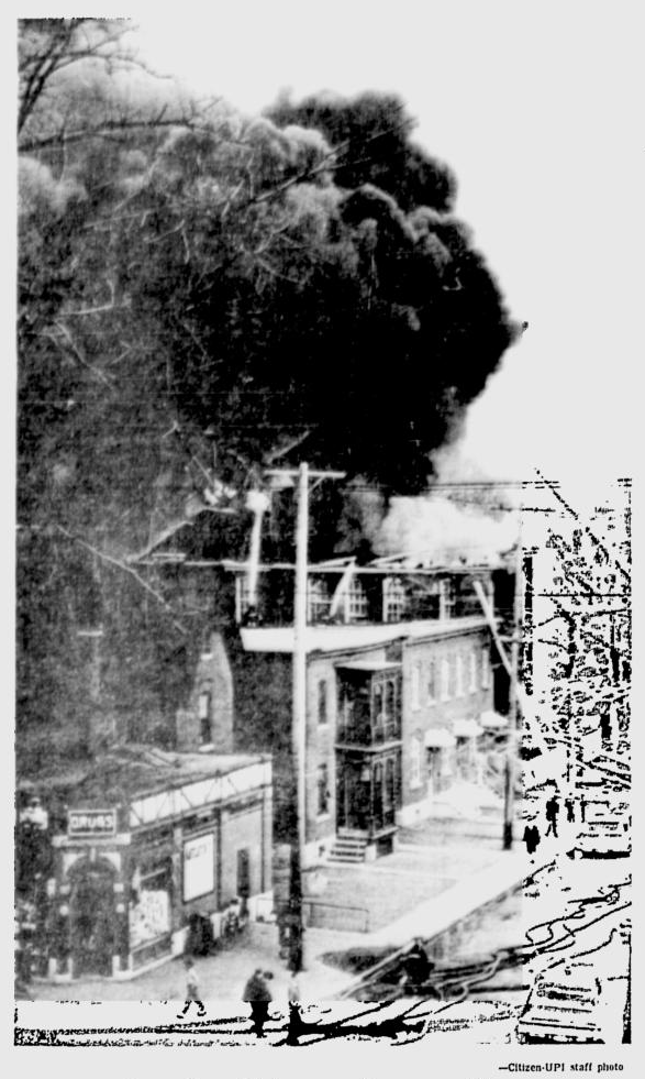 Just as a buyer had been found, fire destroyed the 67 year old building. Source: Ottawa Citizen, April 15, 1965, p. 1.