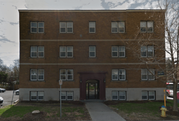 James Beach and R.C. Greig teamed up to construct this apartment on Second Avenue at Bronson in 1945. Image: Google Maps (May 2016).