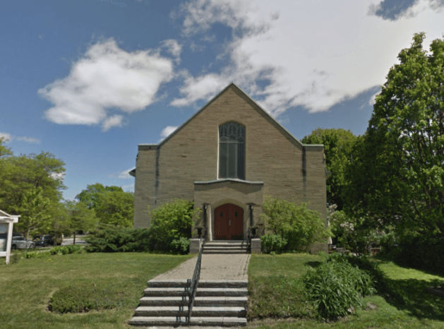 St. Stephen's Presbyterian was constructed in 1946 at a cost of $150,000. Image: Google Maps, May 2015.